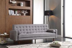 Fairfax Convertible Sofa In Grey Fabric