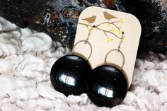 Black vintage button earrings! http://www.etsy.com/shop/ButtonWillowJewelry