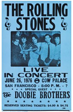 famous rock concert posters | The infamous Rolling Stones cover and the first appearance of the ...