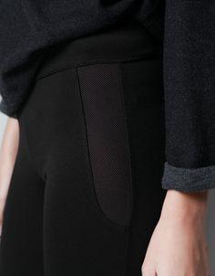 COMBINED OTTOMAN LEGGINGS - Trousers - Woman - ZARA Turkey 70 TRY