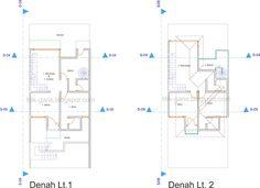 Desain Rumah 2 Lantai di Atas Lahan 120 m2 (7x17m)