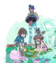 Pokemon BW2 Humilau City Gym Gym Leader Marlon,Rosa,and Nate.