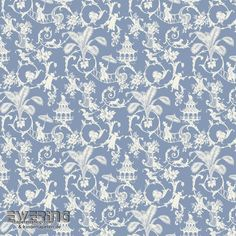 23-326917 Waverly Small Prints Rasch Textil Verzierung grau-blau