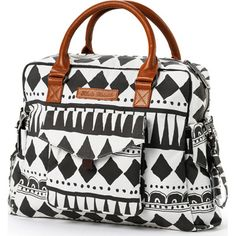 Un sac à langer au format classique dans un imprimé à la fois exotique et tendance.