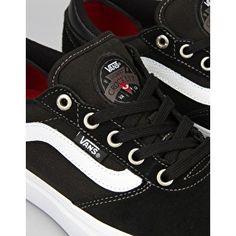 Vans Gilbert Crockett Pro Skate Shoes - Black/White/Red | Skate Shoes | Mens Skateboarding Trainers & Footwear | Route One