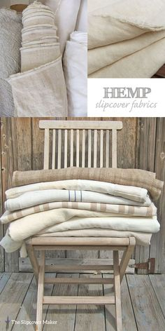 Might want to try some hemp. ********** If you love linen you will love the look & feel of hemp for slipcovers. Durable, washable and long wearing. Here are some of my favorite natural hemp fabrics: Hemp Canvas . Hemp Fabric, Linen Fabric, Rustic Fabric, Farmhouse Fabric, Poltrona Vintage, Custom Slipcovers, Linens And Lace, Soft Furnishings, Diy Furniture