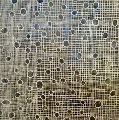 "Hide and Seek, Encaustic on panel, 24"" x 24"" Anna Wagner-Ott"