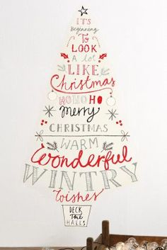 You still have time to add a few festive finishing touches to your home! Wall stickers are a great choice for people with limited floor space.