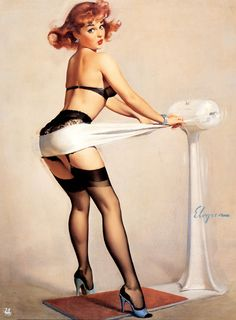 Gil Elvgren Pin Up Paintings