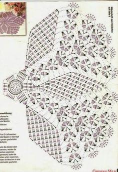 Home Decor Crochet Patterns Part 81 - Beautiful Crochet Patterns and Knitting Patterns Free Crochet Doily Patterns, Crochet Doily Diagram, Crochet Motifs, Crochet Circles, Crochet Art, Crochet Home, Thread Crochet, Crochet Designs, Crochet Stitches