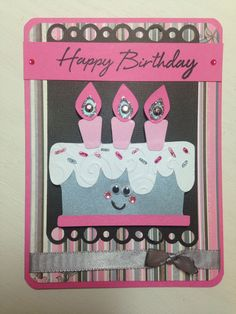 Cricut-Simply Charmed. Birthday card.