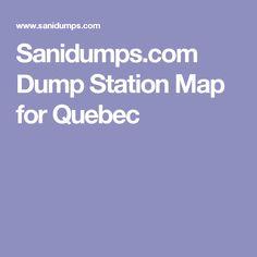 Sanidumps.com Dump Station Map for Quebec