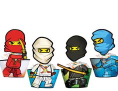INSTANT DOWNLOAD - Ninjago Cupcake Toppers & Wrappers - Ninjago Party Printables