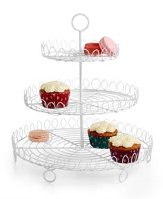 Martha Stewart Collection Cupcake Tree, Only at Macy's - White