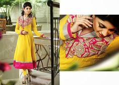 Tantalizing Yellow Salwar Kameez | StylishKart.com