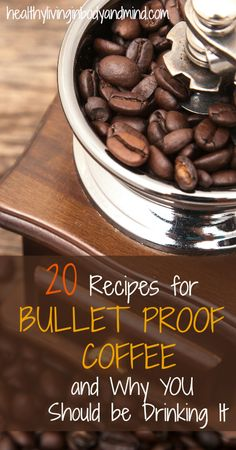 20 Recipes for Bullet Proof Coffee and Why You Should Be Drinking It Healthy Living in Body and Mind Low Carb Keto, Low Carb Recipes, Real Food Recipes, Healthy Recipes, Drink Recipes, Recipes Dinner, Smoothie Recipes, Low Carb Drinks, Coffee Recipes