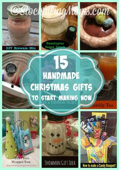 Here are 15 Handmade Christmas Gifts to Start Making Now to have in time for gift giving during the season. Take the stress away by starting now and getting most of your gifts done.