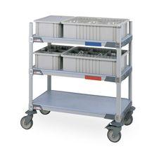 MetroMax i Two-Tote Glassware Lab Cart