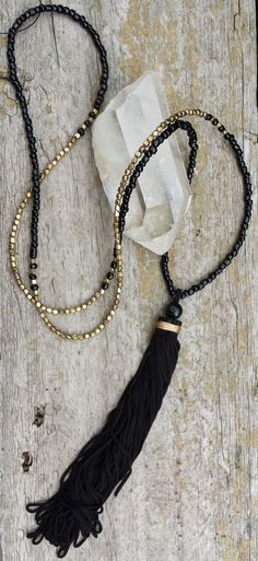 Long tassel necklace from my shop on facebook.com/RoieDesigns