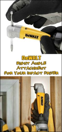 This right-angle attachment for DEWALT(R) impact drivers allows you to reach into tight places for easier driving. Need one?