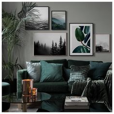 Inspiration for beautiful living room picture wall with posters Desenio - Vardagsrum Diy Living Room Murals, Interior Design Living Room, Living Room Designs, Art For Living Room, Living Room Artwork, Living Room Wall Decor, Manly Living Room, Living Room Prints, Dining Room Wall Art