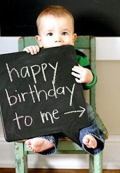 first birthday photo prop - chalkboard
