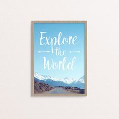 Explore the World DIY printable typographic by StationeryPolkadot
