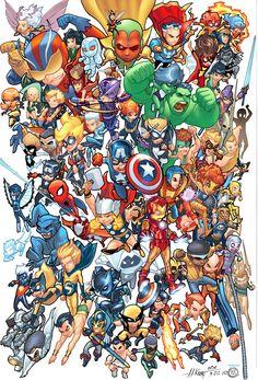 Vingadores,X men,Quarteto fantástico e muito mais personagens de universos dá Marvel