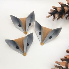 Foxes, owls and deer paper folds