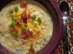Baked potato soup!