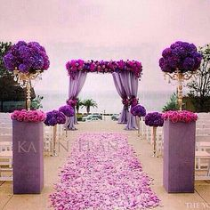 incredible purple wedding ceremony decor ~ we ❤ this! moncheribridals.com