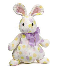 Look what I found on #zulily! GANZ White & Lavender Polka Dot Eggstella Plush Toy by GANZ #zulilyfinds