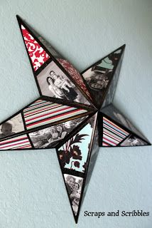 Photo Collage Star Tutorial ~ make as a Christmas tree topper?