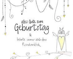 handgemachte Geburtstagskarte mit Krone und Glitzerstein nur das
