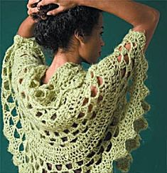 Half Moon Shawl No 60274AD - Free Crochet Pattern - See http://www.ravelry.com/patterns/library/half-moon-shawl-60274ad For Additional Projects - (joann.lionbrand)