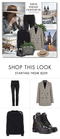 """""""The only trip you will regret is the one you don't take!!"""" by lilly-2711 ❤ liked on Polyvore featuring Frame, STELLA McCARTNEY, Balmain and Givenchy"""