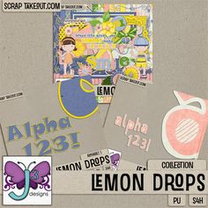 Triple J's Lemon Drops Collection is so delicious and lemony! So perfect for scrapping your summertime memories! Available at Scrap Take Out: http://scraptakeout.com/shoppe/Lemon-Drops-Collection.html