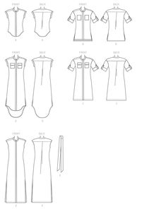 McCall's Sewing Pattern Misses' Button-Down Top, Tunic, Dresses and Belt Clothing Patterns, Dress Patterns, Sewing Blogs, Sewing Ideas, Sewing Projects, Shirt Dress Pattern, Mccalls Sewing Patterns, Clothes Crafts, Pattern Drafting