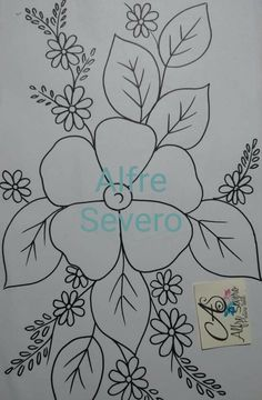 Floral Embroidery Patterns, Embroidery Suits Design, Hand Embroidery Stitches, Hand Embroidery Designs, Ribbon Embroidery, Cross Stitch Embroidery, Easy Art For Kids, Pencil Drawings Of Flowers, Flower Phone Wallpaper