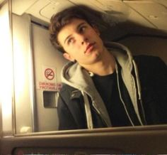 And the claustrophobia of airplane toilets: OMG THEY USED A PIC OF SHAWN MENDES YAS