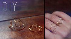 DIY / St-Valentin : Flèche et coeur en fil de laiton (wire arrow & heart rings)