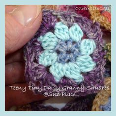 Inspired by Sophie Digard and my Daisy pattern from a couple of years back made with 100% merino and variegated Hot Sock yarn and a 3mm hoo...