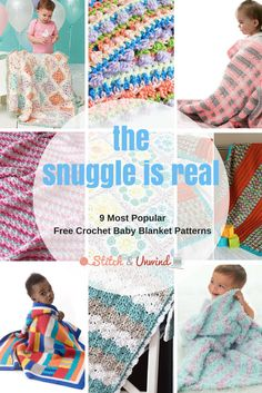 The Snuggle is Real: Our 9 Most Popular Crochet Baby Blanket Patterns