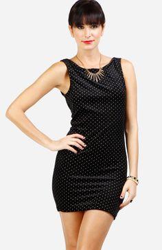 Micro Dot Velvet Dress