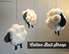 Cotton Ball Sheep…Kid Stuff (Me and Martha Series) Sheep Crafts, Vbs Crafts, Camping Crafts, Preschool Crafts, Cotton Ball Crafts, Diy For Kids, Crafts For Kids, Preschool Painting, Mobiles For Kids