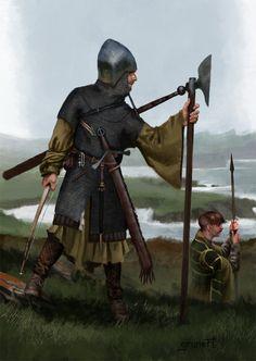 14th century irish warrior