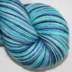 4ply British wool and nylon in Ocean Blue