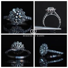 Beautiful completed floral halo round engagement ring. The post yesterday was the computerized image for this design. #yourdiamondgirl #trustyourjeweler #designsbykamni #allcustomeverything #engagementring #howheasked #theknotrings