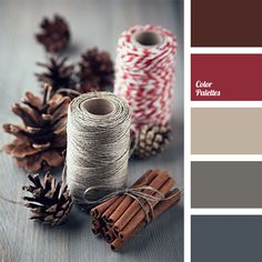 "Beautiful, calm colours of this ""eco"" palette are suitable for decoration of a living room in eco-style. Shades of brown and gray should be applied as a ba."