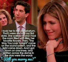 This episode is so good this proposal should be happen in the series and theri wedding too #roschel #friends